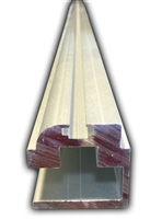 Tormax Tx9000 Fixed Panel Bottom Guide Track, Clear (Length 8 Feet)
