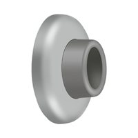 "Deltana WB250U32D - Wall Mount Concave Flush Bumper, 21/2"" Diam. - Brushed Stainless Finish"