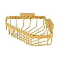 "Deltana Wbc6353Cr003 - Wire Basket 8-1/4""X 6-7/8"" Pentagon - PVD Polished Brass Finish"