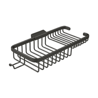 "Deltana Wbr1051HU10B - Wire Basket 10-3/8"", Rectangular Deep & Shallow, With Hook - Oil-rubbed Bronze Finish"