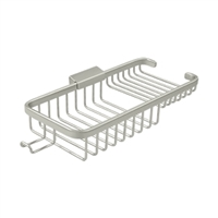 "Deltana Wbr1051HU15 Wire Basket 10-3/8"", Rectangular Deep & Shallow, With Hook - Brushed Nickel Finish"