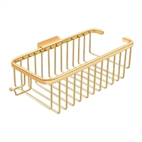 "Deltana Wbr1054Hcr003 - Wire Basket 10-3/8"", Deep, Rectangular With Hook - PVD Polished Brass Finish"