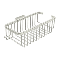 "Deltana Wbr1054HU14 - Wire Basket 10-3/8"", Deep, Rectangular With Hook - Polished Nickel Finish"