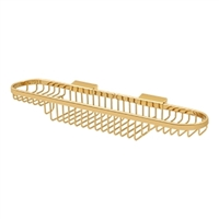 "Deltana Wbr1835Cr003 - Wire Basket, 18"" Combo - PVD Polished Brass Finish"