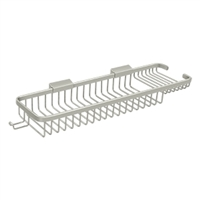 "Deltana Wbr1850hU15 - Wire Basket 17-3/8"", Rectangular Deep & Shallow, With Hook - Brushed Nickel Finish"