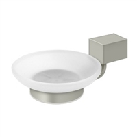 Deltana Za2012-15 - Frosted Glass Soap Dish Za Series - Brushed Nickel Finish