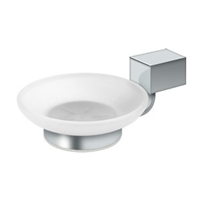 Deltana Za2012-26 - Frosted Glass Soap Dish Za Series - Polished Chrome Finish