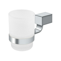 Deltana Za2014-26 - Frosted Glass Tumbler Set Za Series - Polished Chrome Finish