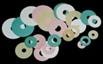 "G34835 - Sucker/Heidelberg Flat Rubber Suction Discs/ 7/8"" OD x 1/4"" ID x 1/16"" Thick/Each (Also available in poly, please call)"
