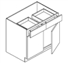 "Fairfield Series Barrington White BASE 42 CABINET - 2 DOOR, 2 DRAWER, 1 SHELF (42""Wx24""Dx34 1/2""H) from The Cabinet Depot"