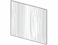 "Fairfield Series  Modern Espresso  Accessories BASE PANEL SKIN - SINGLE SIDE FINISH (96""Wx36""H) from The Cabinet Depot"