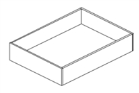"Ashford Series  Frost White Shaker  Accessories SPICE DRAWER - 1 DRAWER (6""Wx24""D""x34 1/2""H) from The Cabinet Depot"