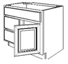 "Fairfield Series  Barrington White SPICE DRAWER - 1 DRAWER (6""Wx24""D""x34 1/2""H) from The Cabinet Depot"