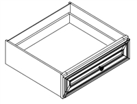 "Ashford Series  Charleston Saddle  Accessories SPICE DRAWER - 1 DRAWER (6""Wx24""D""x34 1/2""H) from The Cabinet Depot"