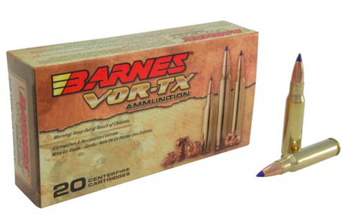 Barnes VOR-TX  308 Ammo 150 Grain Polymer Tipped TSX Hollow Point Boat Tail    Lead Free