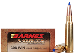Barnes VOR-TX .308 Ammo 168 Grain Polymer Tipped TSX Hollow Point Boat Tail | Lead Free