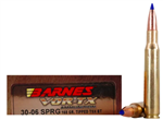 Barnes VOR-TX .30-06 Springfield Ammo 168 Grain Polymer Tipped TSX Hollow Point Boat Tail | Lead Free