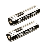 Streamlight 2 Pack of 18650 Rechargeable USB Batteries