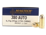 Magtech .380 ACP Ammo 95 Grain Full Metal Jacket