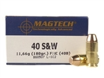 Magtech .40 S&W Ammo 180 Grain Full Metal Jacket