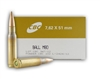 Magtech/CBC 7.62x51 M80 NATO Ammo 147 Grain Full Metal Jacket