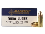 Magtech 9mm Luger Ammo 115 Grain Full Metal Jacket