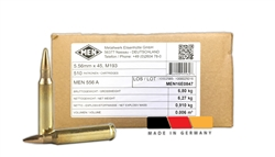 MEN Defence 5.56x45 M193 NATO Ammo 56 Grain Full Metal Jacket