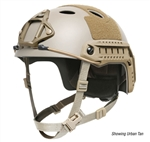 Ops-Core FAST Carbon Helmet w/ Skeleton Shroud & ARC Rails