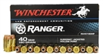 Winchester .40 S&W Ammo 180 Grain Ranger Series Jacketed Hollow Point