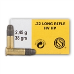 Sellier & Bellot .22LR Rimfire Ammo 38 Grain High Velocity Hollow Point