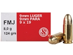 Sellier & Bellot 9mm Luger Ammo 124 Grain Full Metal Jacket