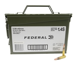 Federal 5.56x45 M193 NATO Ammo 55 Grain Full Metal Jacket