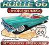 Route 66 Mother Road Get Your Kicks Hot Rod T-shirt S-XXXL