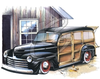 '47 Ford Woody T-shirt
