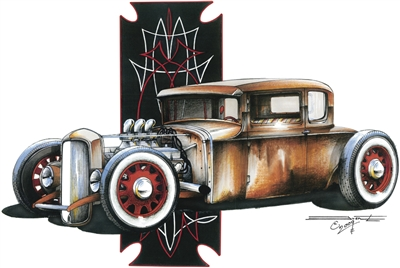 Classic '32 Ford Coupe Rat Rod Hot Rod T-shirt