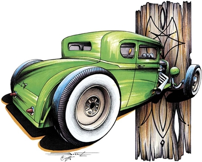Rat Rod Hot Rod Coupe T-shirt
