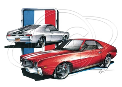 AMC Javelin AMX American Motors Classic Car T-shirt