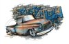 Chevy '55-'56 Chevrolet Pickup Rusty 'n Low Truck T-shirt