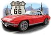 '63-'67 Classic Corvette Convertible T-shirt 100% cotton small to XXXL