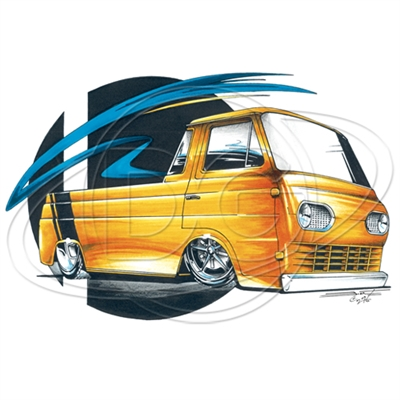 Ford '61-'67 Custom Econoline Pickup Hot Rod T-shirt