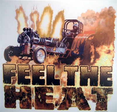 "Dragster Drag Racing ""Feel The Heat"" T-shirt"