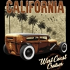 California West Coast Cruiser Rat Rod Hot Rod T-shirt
