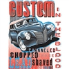 Hot Rod Custom Channeled Chopped Shaved Car T-shirt