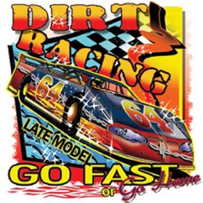 Dirt Track Racing Late Model Car T-shirt