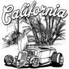 California Roadster Cruiser Hot Rod T-shirt