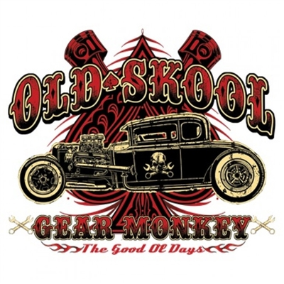 Old Skool Gear Monkey T-shirt