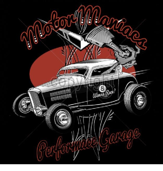 Hot Rod T Shirts >> Hot Rod Coupe Motor Maniacs T Shirt