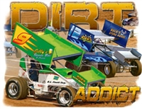 "DIrt Track Racing ""Dirt Addict"" T-shirt"
