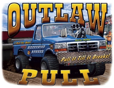 Outlaw Pull Ford 4X4 Pickup T-shirt