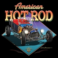 Ford T-Bucket Classic American Hot Rod T-shirt 100% Cotton Small-XXXL